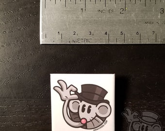 Pinback Button HAPPY RAT LOGO Jin Wicked Tipping Top Hat