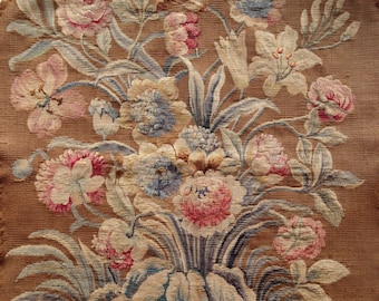 18th Century French Floral Tapestry