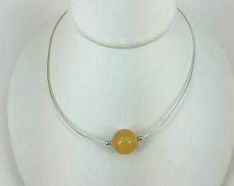 Amber Bead choker necklace,