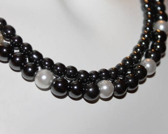 Black Pearl Jewelry, Black Pearl Necklace, Black Beaded Jewelry, Black Beaded Necklace, Jewelry Black Pearls, Black Jewelry, Black Necklace