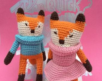 Foxy crochet doll