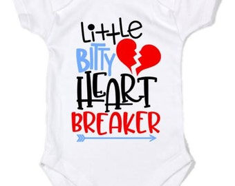 Valentine's Day | Little Bitty Heart Breaker | Heartbreaker | Short Sleeve | Long Sleeve | Baby Shower Gift | Newborn Outfit