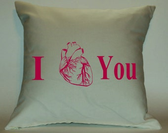 I Heart You 18X18 Decorative Pillow Cover