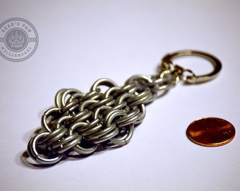 14 gage Kings Maille Keychain