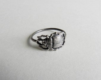 CUSTOM LISTING for Alexandra graff Insectia Beetle Ring in Sterling Silver
