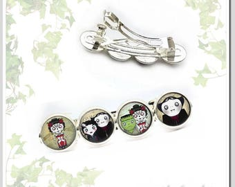 Hair Clip Gothic famaly silver-plated Har-S412-010