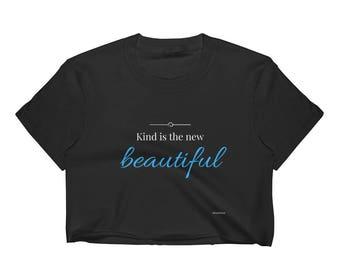 Crop Top | Boho Kindness Inspirational Quote Halter Top Shirt