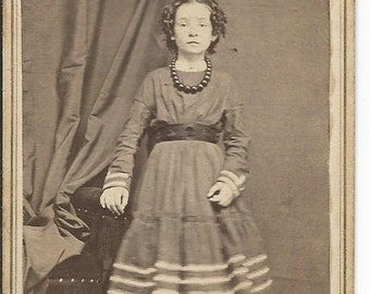 Antique Cabinet Photograph of Young Girl