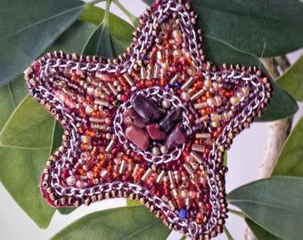 Christmas star brown