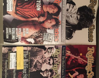 Rolling Stones Mick Jagger 4 Rolling Stone Magazines