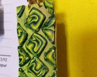 Green Swirl pendant