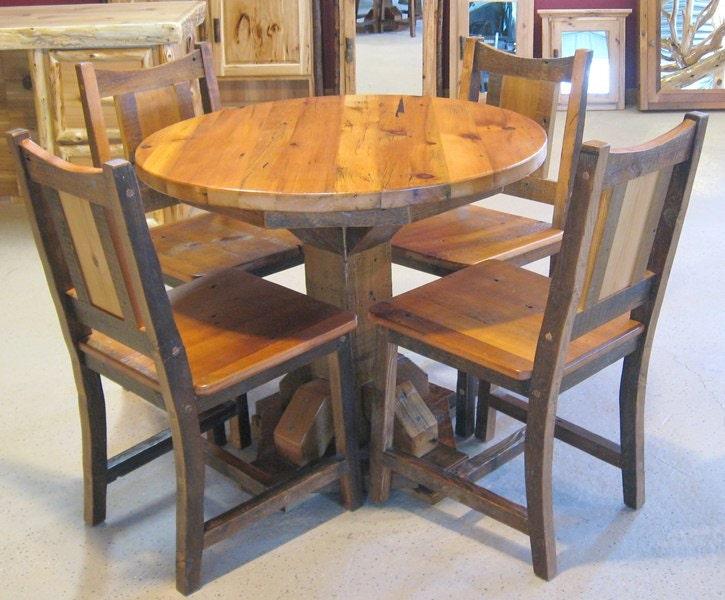 Oak Round Kitchen Table Round barnwood table barnwood dining table reclaimed wood zoom workwithnaturefo