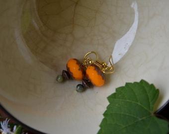 Ripe Persimmon Earrings