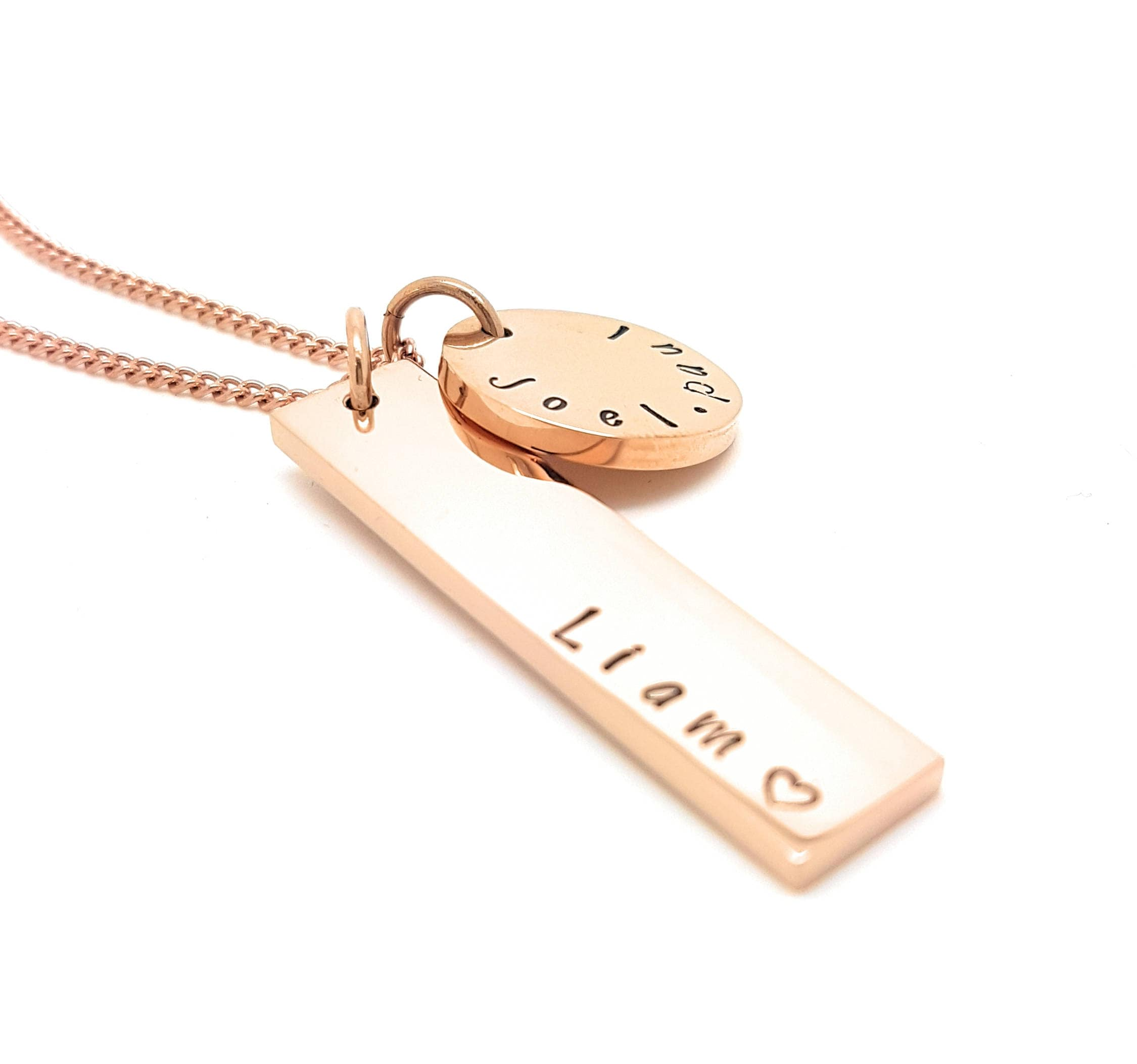 vines personalized necklace pendant hangul name korean swirly with pin gold