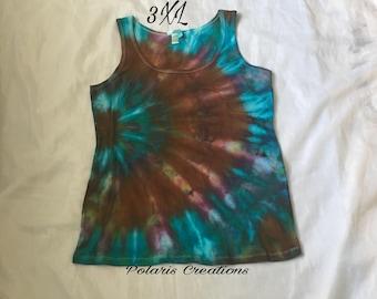 In stock!! Ready to ship!! Tie dye tank top (3XL)!!