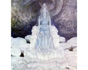 Snow Queen Card - Hans Andersen Fairy Tales - Edmund Dulac