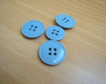 medium blue rim button end