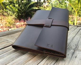 Personalized Genuine Leather Journal Refillable // Leather Notebook // Large Leather Journal // Leather Journal Cover