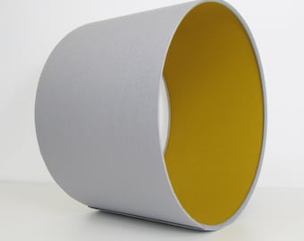 Grey and Mustard Lampshade