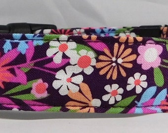 Dog Collar, Martingale Collar, Cat Collar - All Sizes - Fresh Flowers