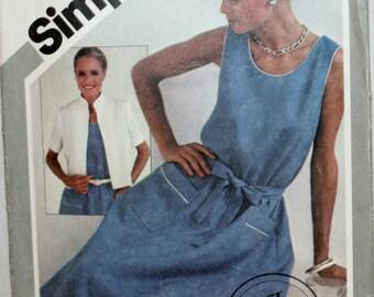 Misses' Dress - Misses Jacket - Sewing Pattern - New - Uncut -Size 10, 12