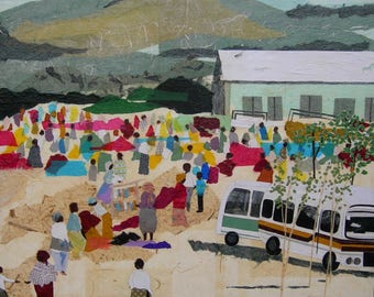 "Market (Tanzania), fine art prints, africa, 10x10"""