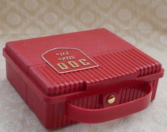 Slide Storage Box, Slide File Box, Red Plastic, Vintage Photography, Compartment Box, Carrying Case, File Organiser, Projector Accessory