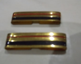French military brass shoulder clips