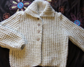 Super chunky hand knitted boxy jacket