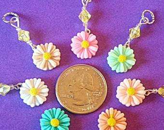 Hearing Aid Charms:  Colorful and Dainty Daisies!  Also available in a matching Mother Daughter Set!