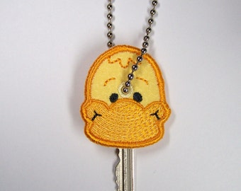 Embroidered Keychain/Keycover - Duck