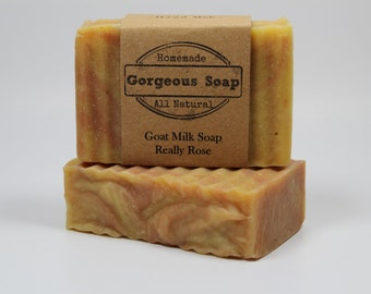 Really Rose Goat Milk Soap - All Natural Soap, Handmade Soap, Homemade Soap, Handcrafted Soap