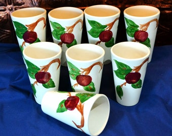 Franciscan Apple Glasses, Franciscan Apple Ware Tumblers, Franciscan Water/Tea Glasses, Franciscan Cups