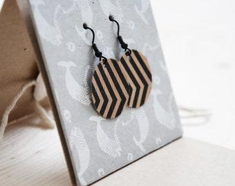 Wooden Paper Earrings