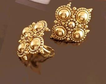 Barrera for Avon Byzantine Earrings, Vntg Avon, Jose Maria Barrera Adriatic Collection