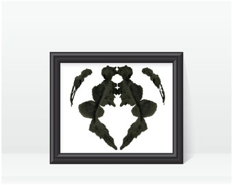 Psychologist Art Print Rorschach Inkblot Test no 16
