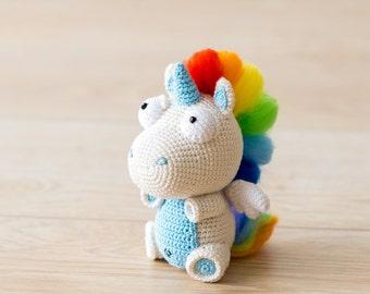 "Crochet Pattern of Unicorn Corki from ""AradiyaToys Design"" (Amigurumi tutorial PDF file)"