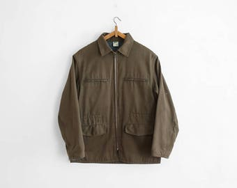 1960s French Hunting Jacket - Poly/Cotton Gabardine - Outdoor Jacket