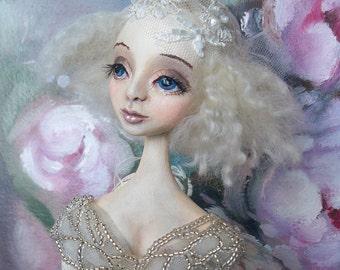 "OOAK Art doll ""Lilian"" Handmade doll OOAK doll Art doll Collectible doll Interior doll Dressed doll"
