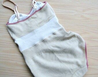Cashmere bodysuit, one piece playsuit, cashmere underwear shop, organic lingerie, handmade in Canada
