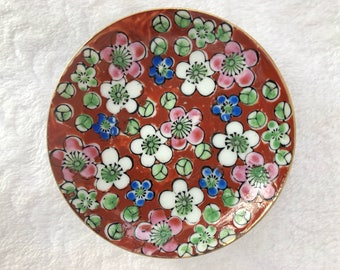 Vintage Austrian Hand-Painted China Pin Dish