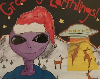 Seasons Greetings Earthlings Boxed Cards