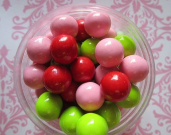 Red Pink Lime Green Sweet Berry Candy Coated Cupcake Topper Sixlets