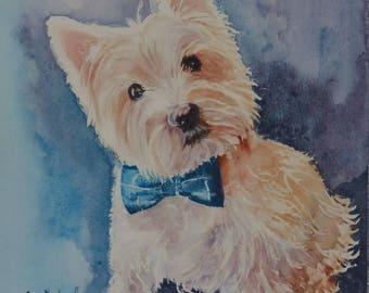 Custom Pet Portraits in Watercolor