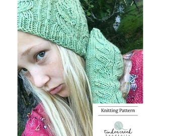 Easy Boho Knitting Pattern, Boho Lace Knitting Pattern, Boho Knitting PDF, PDF Knitting Pattern, Lace Knitting, Fingerless Gloves, Lace Hat