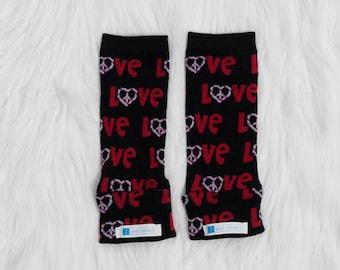 Love Peace Heart Baby Leg Warmers | Valentines Day | Baby Leggings | Toddler Leggings | Baby Gifts | Leggings | Baby Pants | Gender Neutral