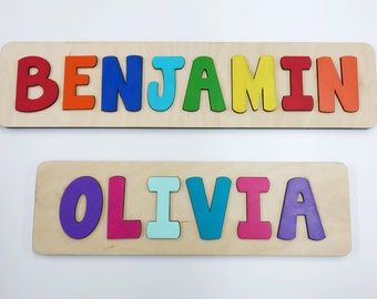 Name Puzzle, Wooden Name Puzzle, Name Puzzles for Toddlers, First Birthday Gift, Second Birthday Gift, Baby Shower, Personalized Puzzle Name