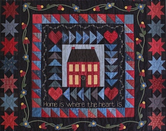 Home Is Where the Heart Is Quilt Pattern PDF by Jen Daly Quilts - Instant Download