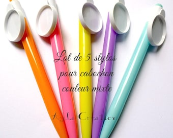 LOT 5 pen for CABOCHON 25 mm mixed color OUT 0251 A'