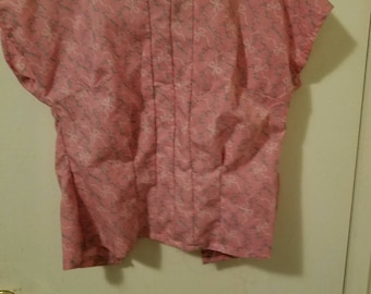 30s short sleeve button in the back blouse